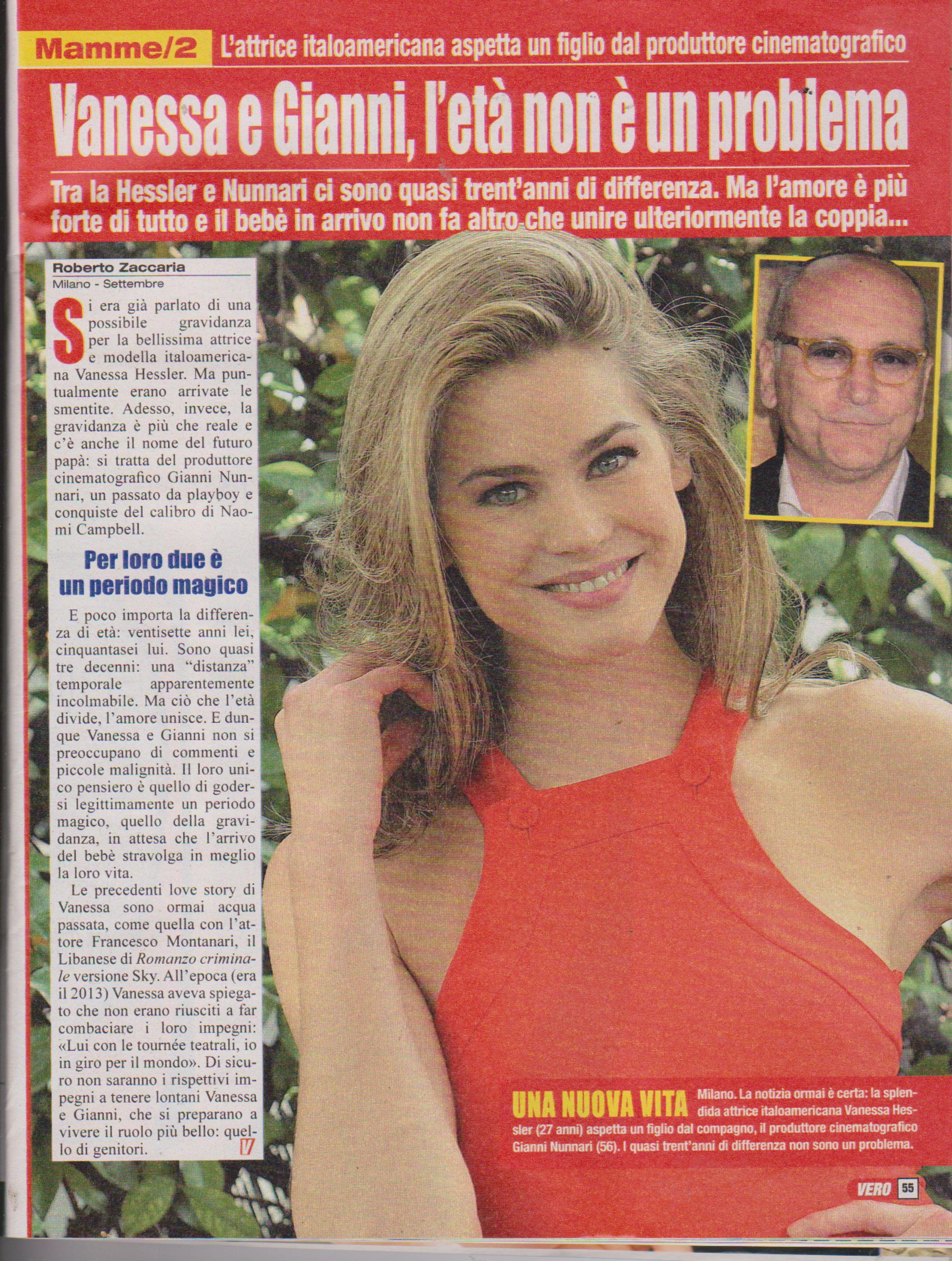 Vanessa Haessler incinta di Gianni Nunari -